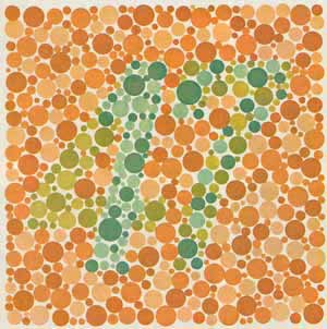 Rot-Grün-Sehschwache sehen hier eine 17, Normalsichtige eine 47
