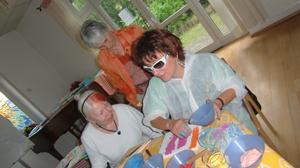 Silja mit Seniorinnen