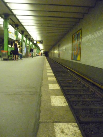 U-Bahn ohne Leitlinie