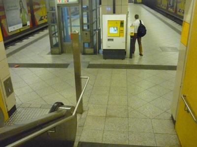 U-Bahn mit Leitlinie