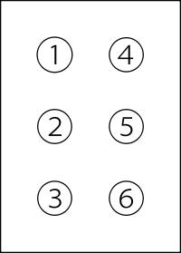 6 Punkt Braillezeichen