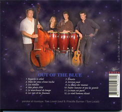 OUT OF THE  BLUE COVER HINTERE SEITE