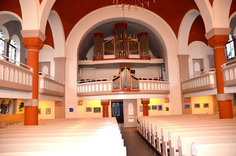 Dorfkirche Alt-Tegel - Ausstellung von Silja Korn