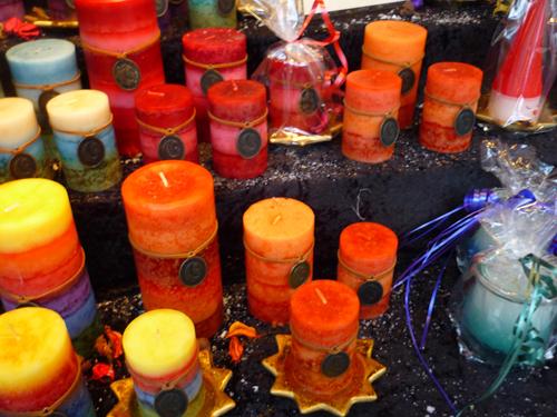 Silja Korn, Kerzen auf dem Weihnachtsmarkt