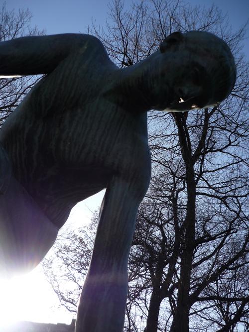 Silja Korn, Bronzestatue - Oberkörper