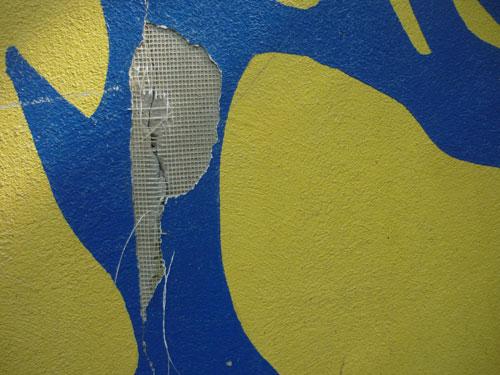 Wand mit Gaze