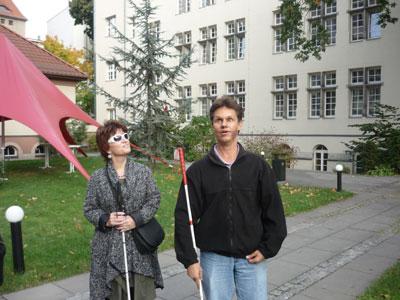 Silja Korn und Daniel Kish