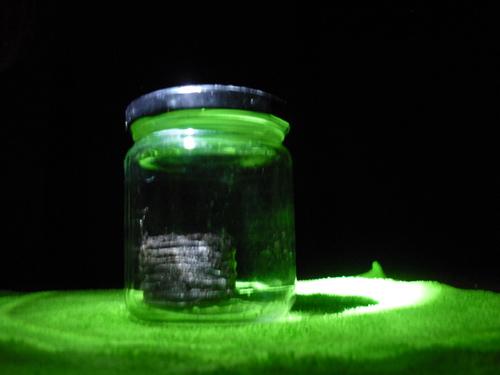 Pellet im Schraubglas mit Deckel