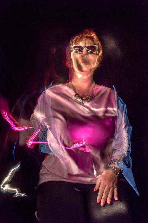 Silja Korn, Lichtmalerei, Selbstportrait