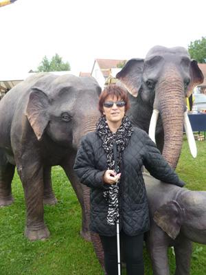 Silja mit 3 Elefanten
