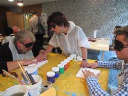 Silja Korn beim Kunstworkshop in der Akademie der Künste in Berlin