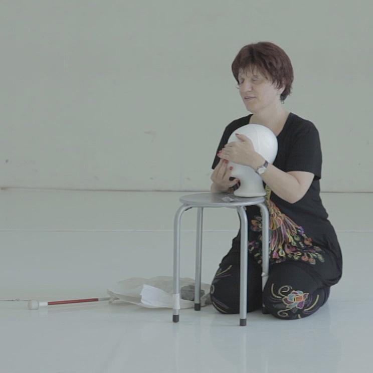 Silja Korn, beim Theaterstück -The Empty