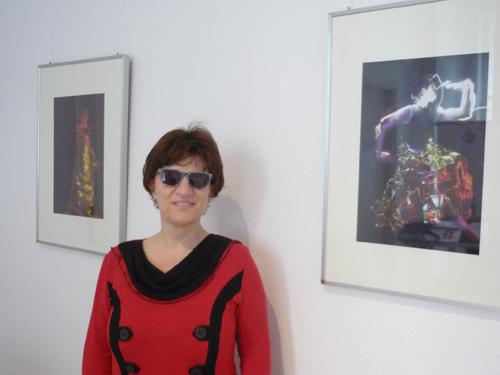 Silja Korn in der Ausstellung